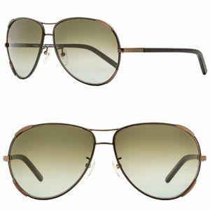 Chloe Nerine aviator sunglasses